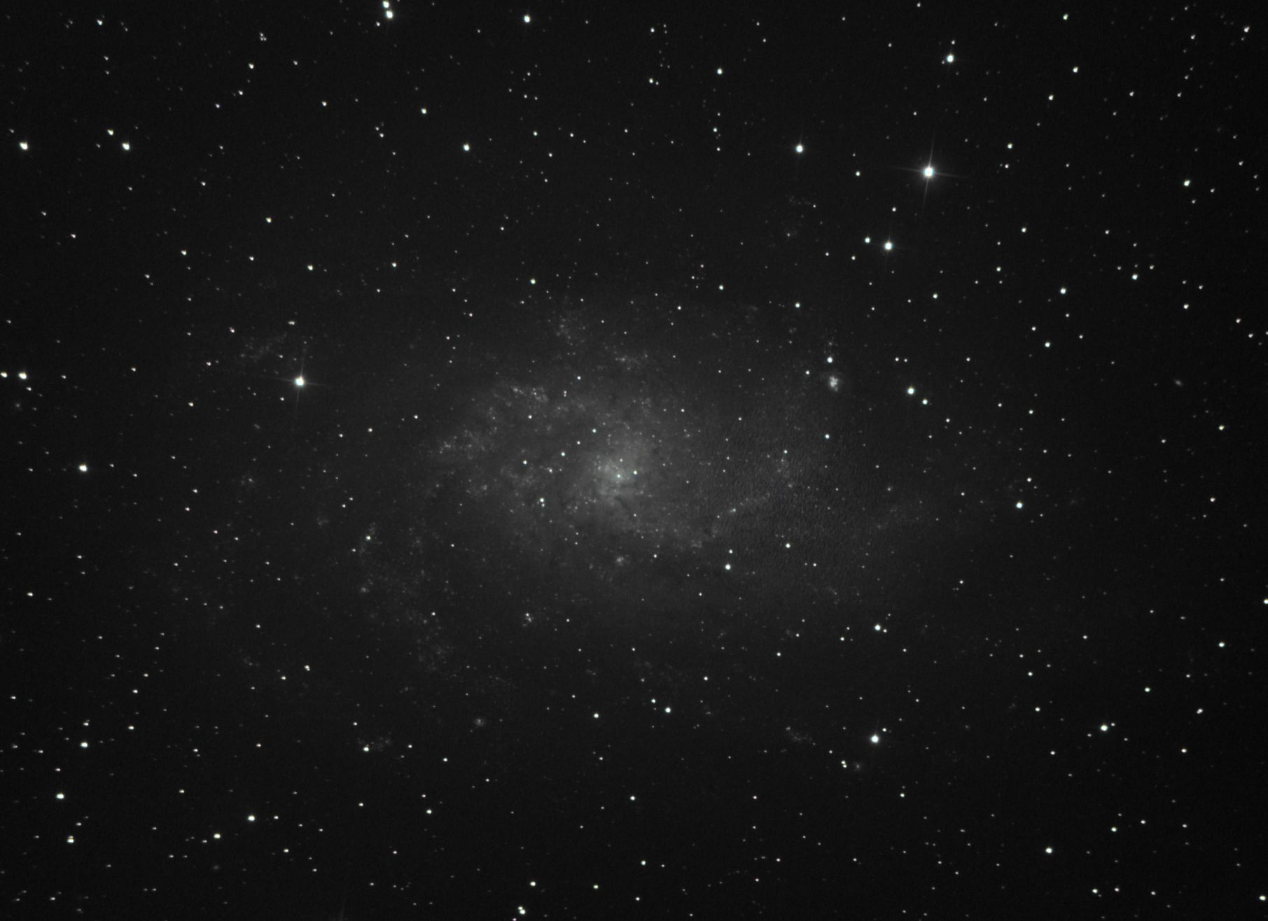 M33 from under poor smoky skies