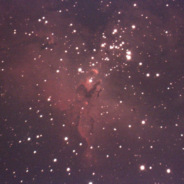 Eagle Nebula as it was viewed (no sharpening)